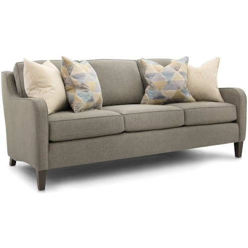Smith Brothers 252 Transitional Sofa with Slim Track Arms