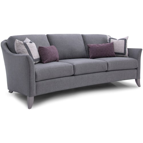 Smith Brothers 256 Transitional Sofa with Flare Tapered Arms
