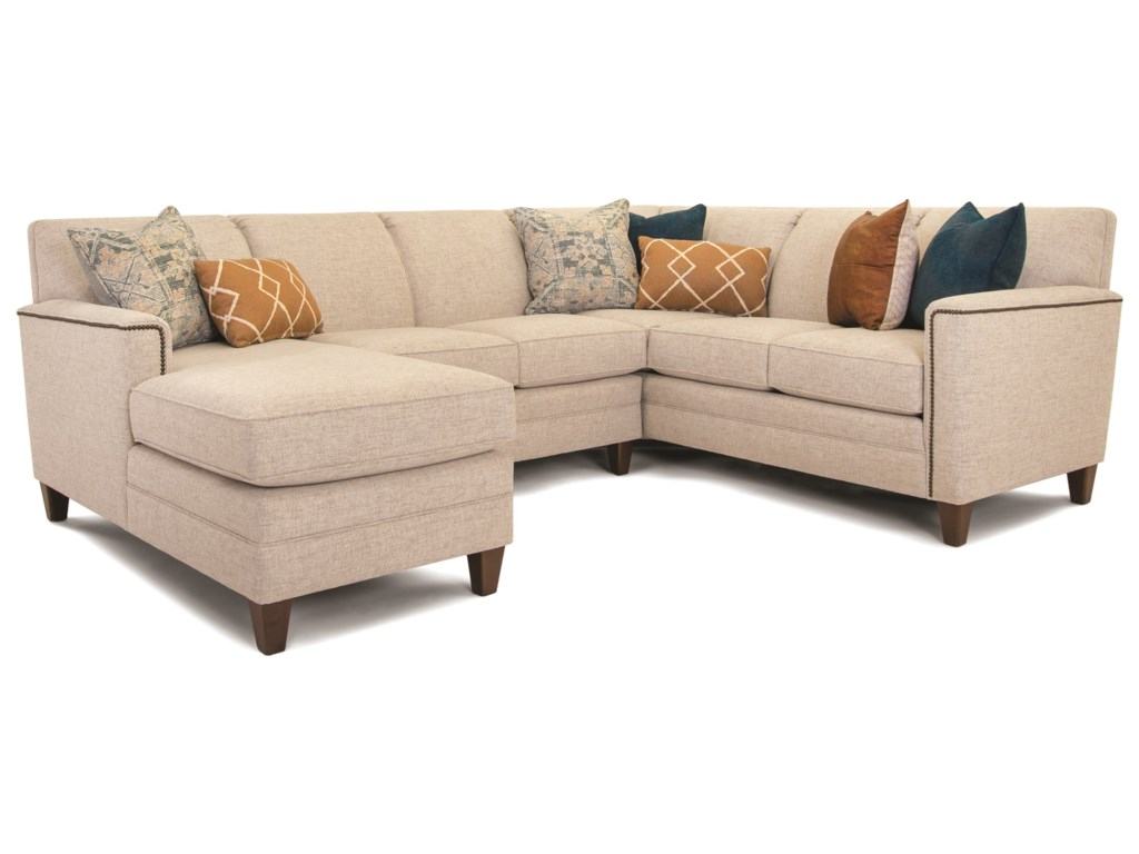 Smith Brothers Build Your Own 3000 SeriesCustomizable 3-Piece Chaise Sectional