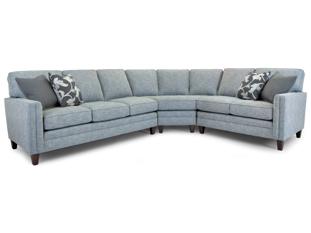 Smith Brothers Build Your Own 3000 SeriesCustomizable 3-Piece Sectional