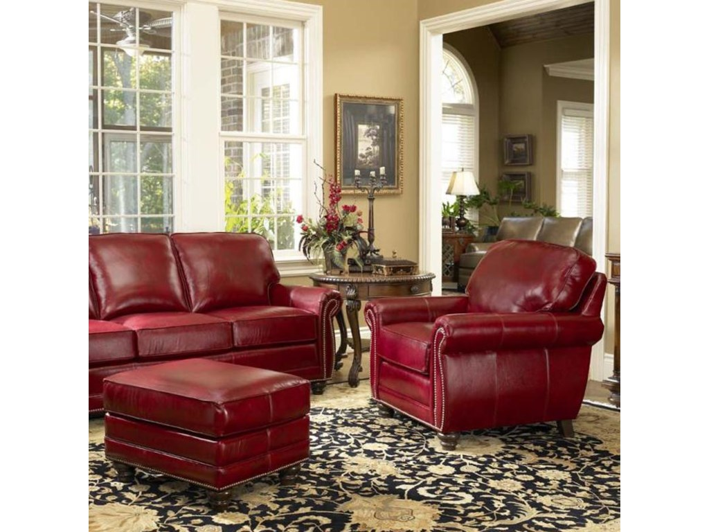 Smith Brothers 302Chair & Ottoman