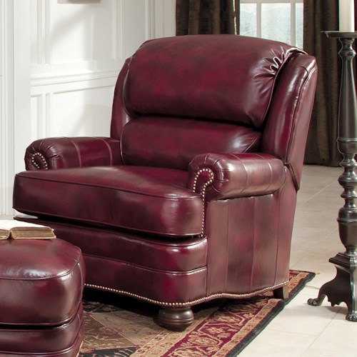 Smith Brothers 311 Upholstered Leather Chair