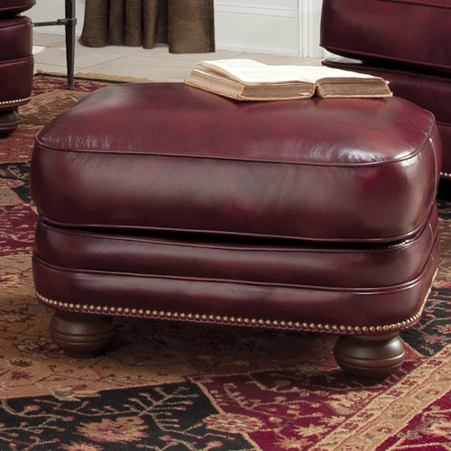 Smith Brothers 311 Leather Ottoman