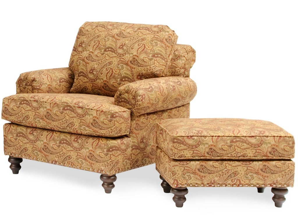 Smith Brothers 324Chair & Ottoman