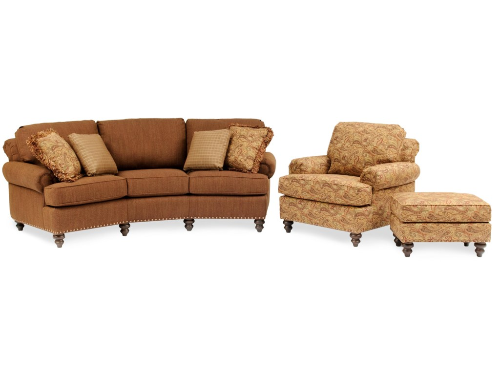 Shown with Sofa & Ottoman