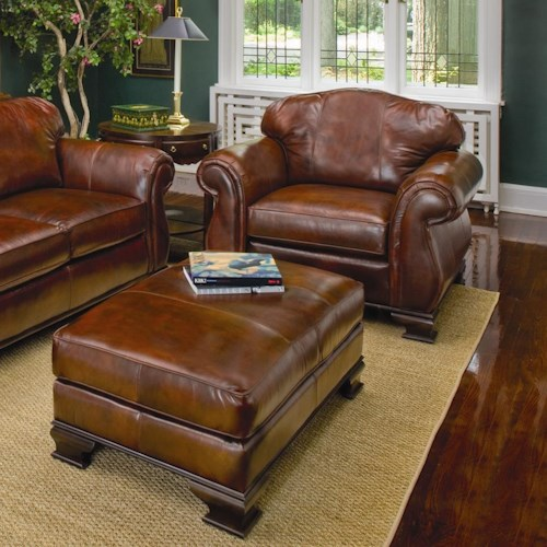 Smith Brothers 336 Upholstered Chair And Ottoman Wayside