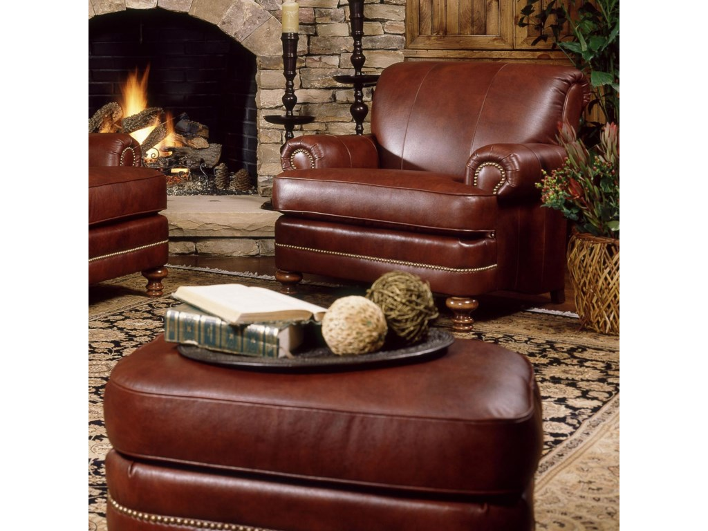 Smith Brothers 346Chair and Ottoman Set