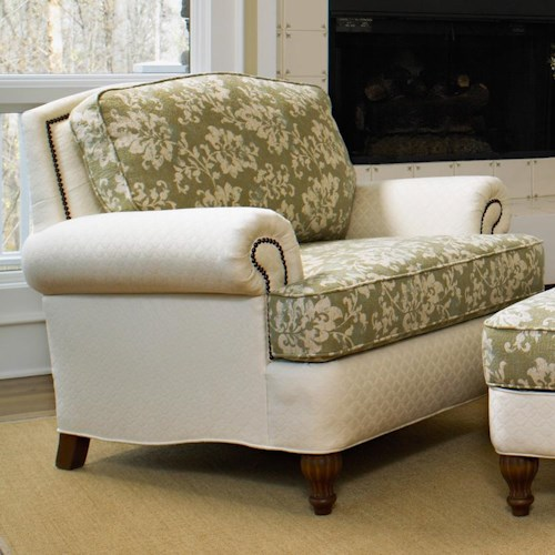 Smith Brothers 358 Upholstered Chair with Nailhead Trim