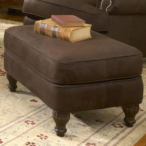 Smith Brothers 358 Rectangular Upholstered Ottoman