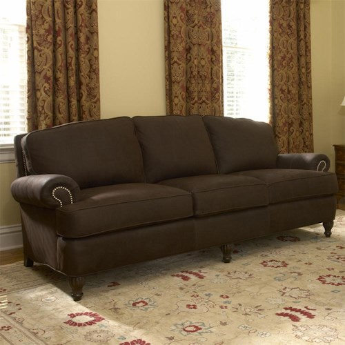 Smith Brothers 358 Traditional Upholstered Sofa ft. Nail Head Trim