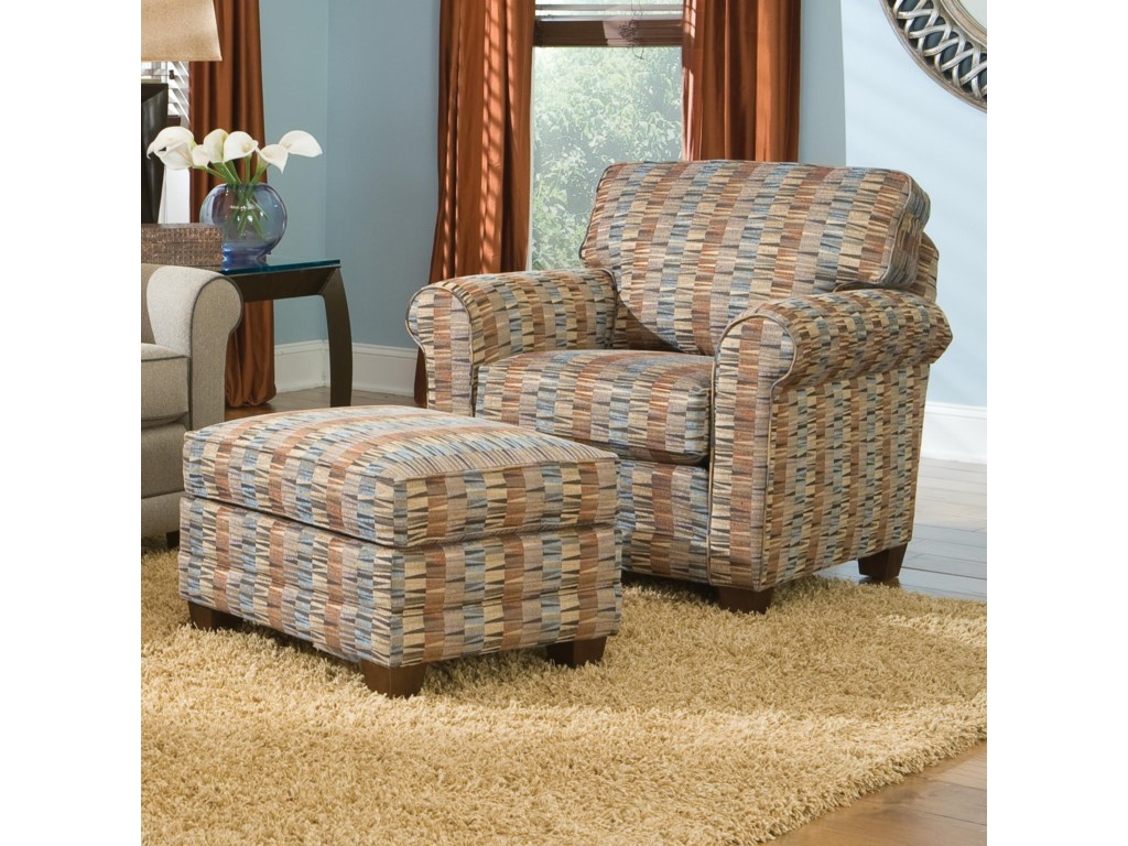 Smith Brothers 366Casual Chair and Ottoman