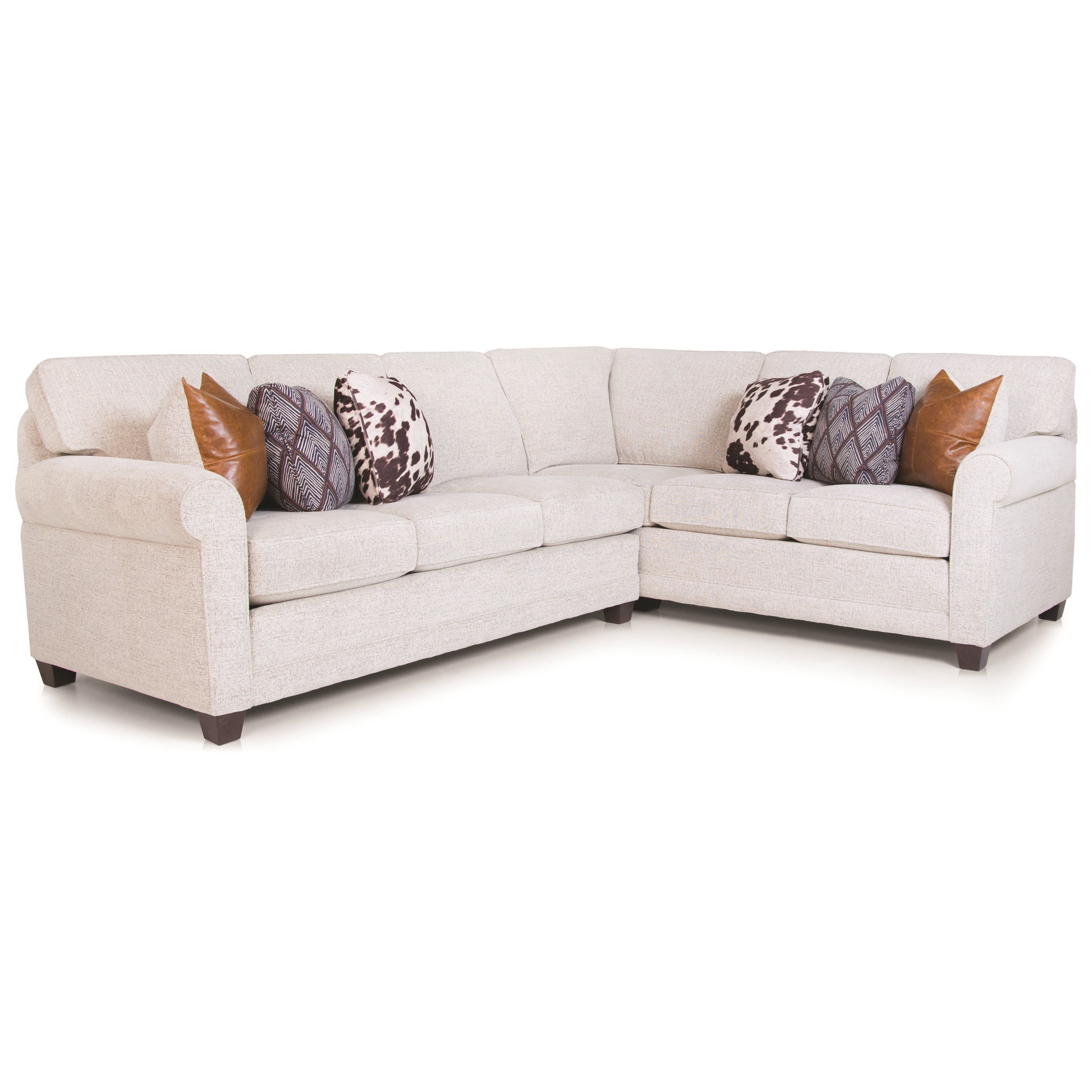 Casual 2-piece L-Shaped Sectional