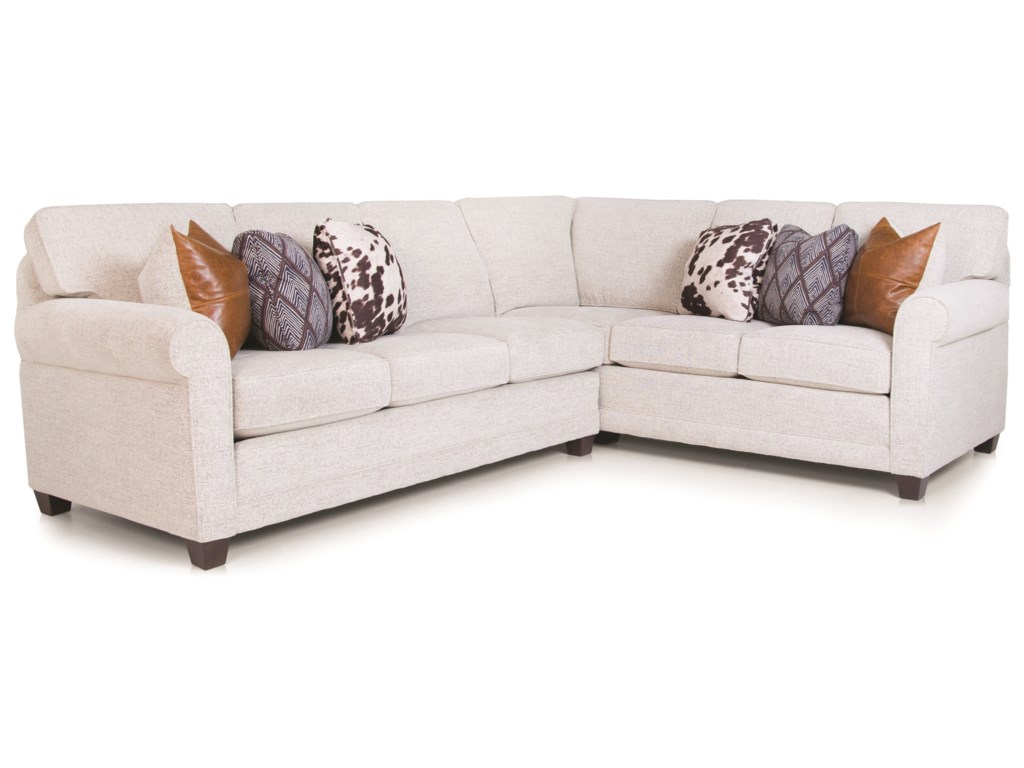 Smith Brothers 366 Casual 2-piece L-Shaped Sectional | Dunk & Bright ...