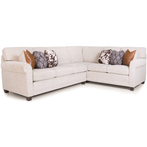 Smith Brothers 366 Casual 2-piece L-Shaped Sectional