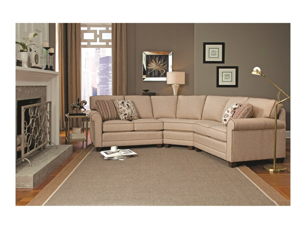 Smith Brothers 3663-pc Sectional