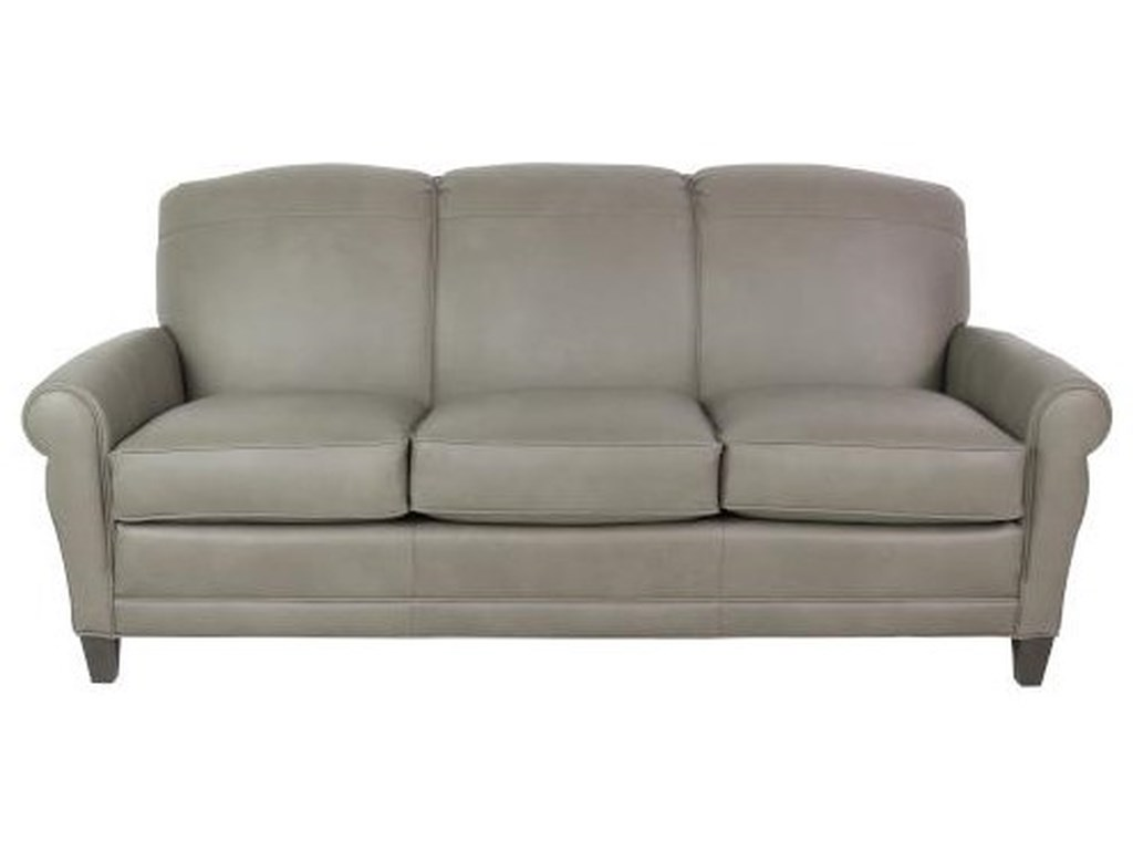 Smith Brothers 374Leather Sofa