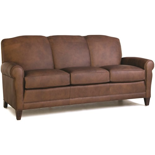 Smith Brothers 374 Stationary Sofa with Rolled Arms