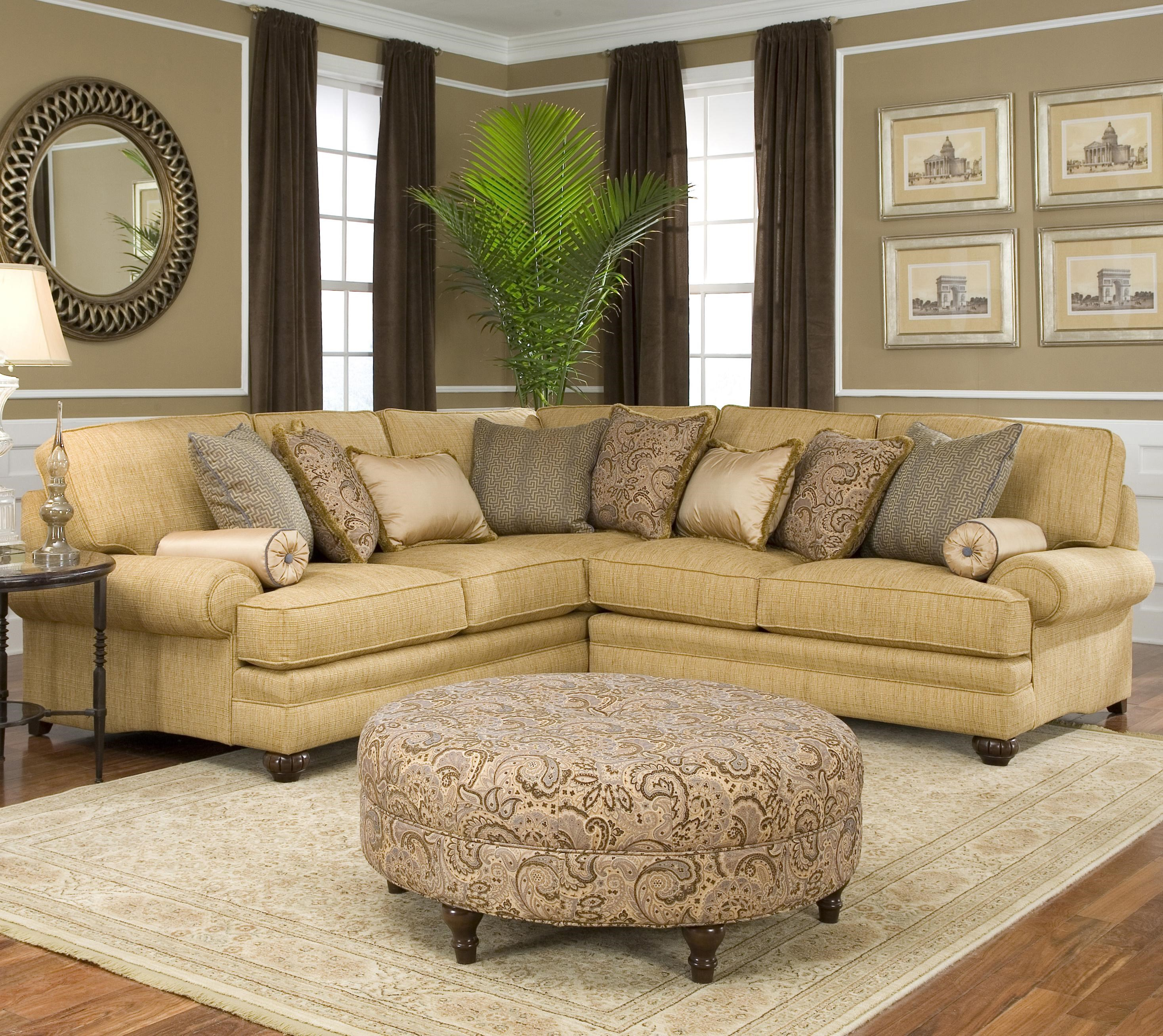 Smith Brothers 376 Traditional Styled Corner Sectional Sofa : corner sectional chair - Sectionals, Sofas & Couches