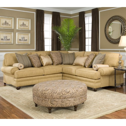 Smith Brothers 376  Traditional Styled Corner Sectional Sofa