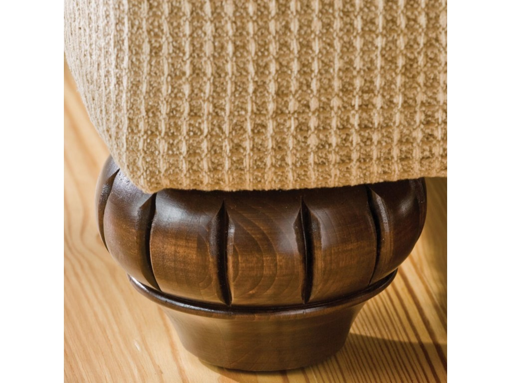 Elegantly Carved Exposed Wood Leg Detail