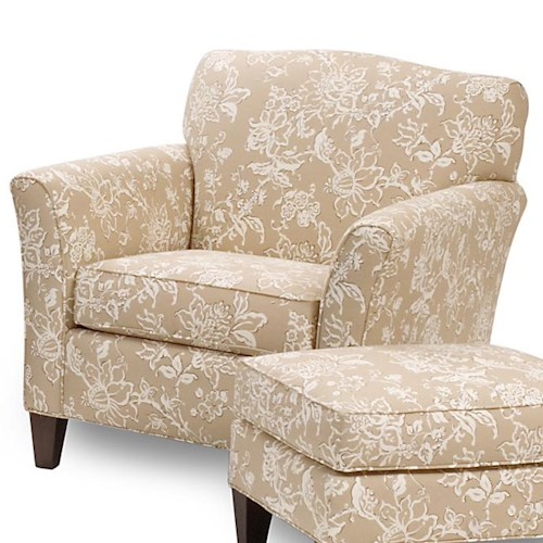 Smith Brothers 378 Upholstered Chair with Tapered Wood Feet