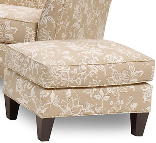 Smith Brothers 378 Ottoman with Tapered Wood Feet