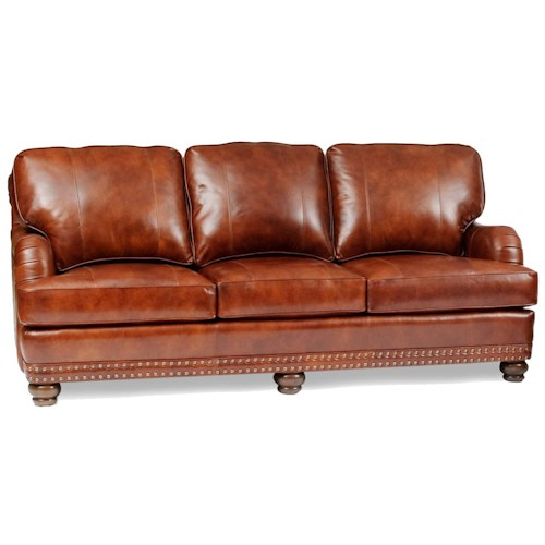Smith Brothers 386 Traditional Sofa with Throw Pillows