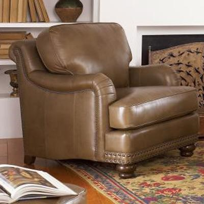 Smith Brothers 388 Traditional Chair with Rolled Back, English Arms and Nail Head Trim