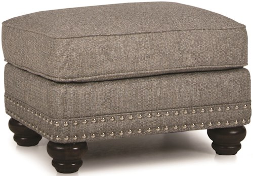 Smith Brothers 388 Ottoman with Nailhead Trim