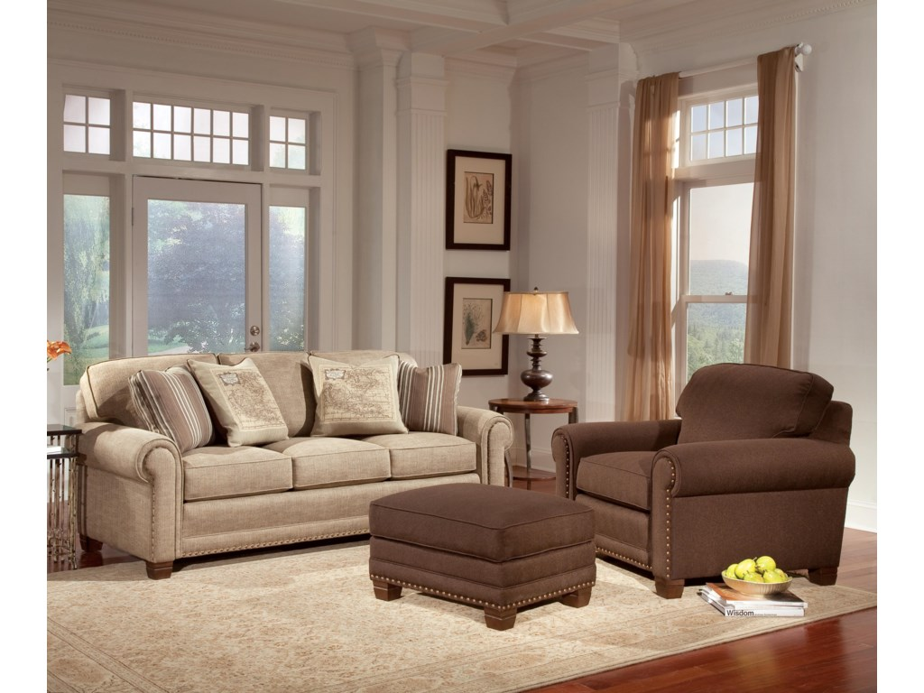 Shown with Chair and Ottoman