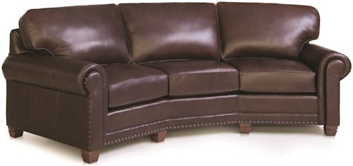 Smith Brothers 393 Traditional Conversation Sofa with Nailhead Trim
