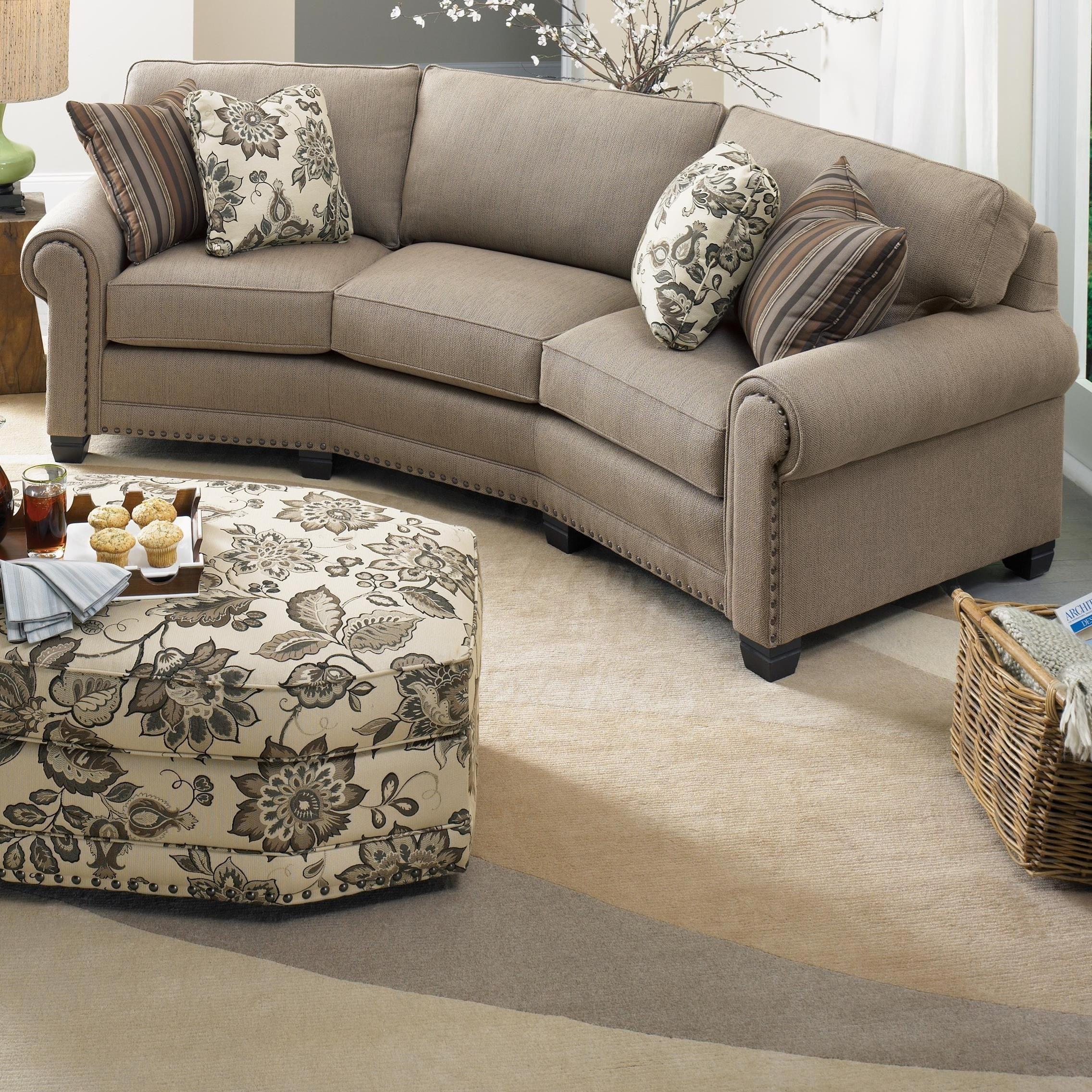 Superieur Smith Brothers 393 Traditional Conversation Sofa With Nailhead Trim