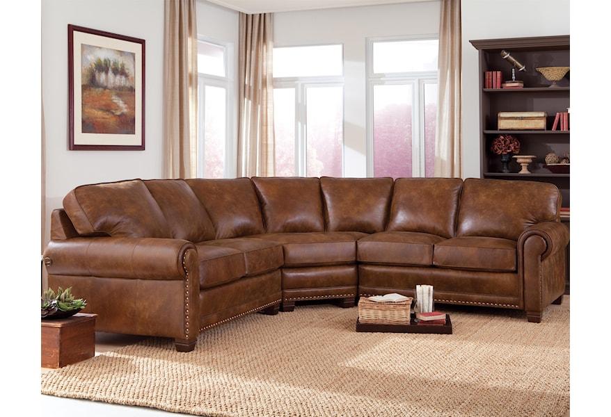 Piece Sectional Sofa With Nailhead Trim