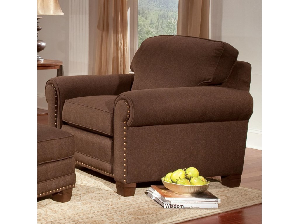 Smith Brothers 393Traditional Stationary Chair