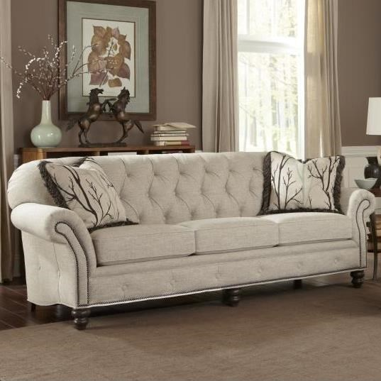 Smith Brothers 396 Traditional Large Sofa With Button Tufting