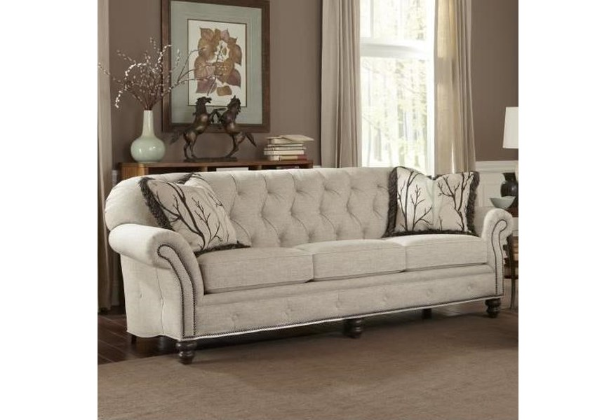 396 Traditional Large Sofa with Button Tufting by Smith Brothers at Dunk &  Bright Furniture