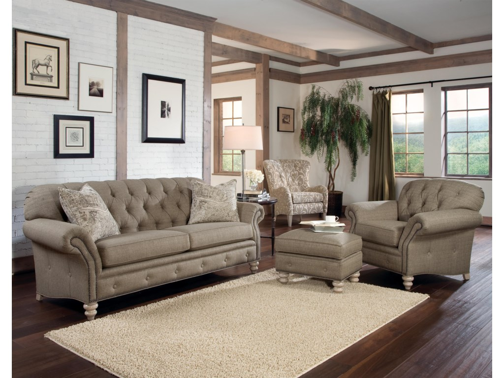 Smith Brothers 396chair & ottoman