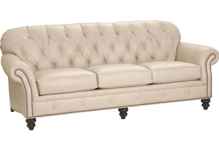 Smith Brothers 396 100 Leather Sofa Darvin Furniture Sofas