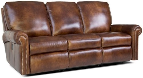 Smith Brothers 416 Traditional Reclining Sectional Sofa with Nailhead Trim