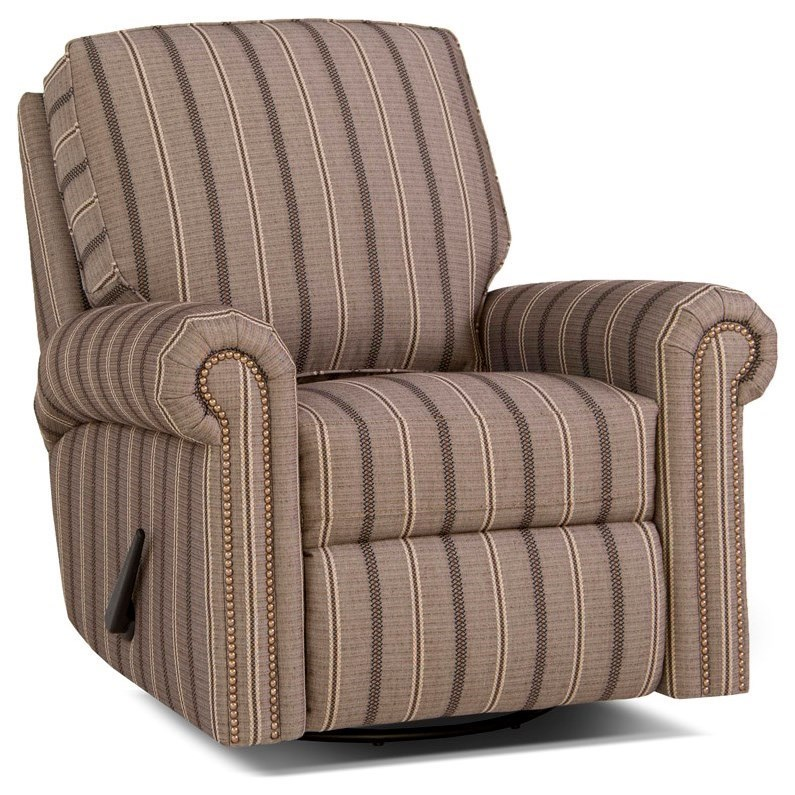 Traditional Manual Reclining Chair with Rolled Arms