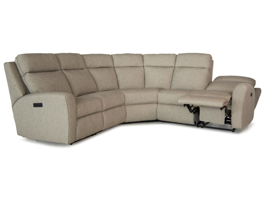 Smith Brothers 418Motorized Reclining Sectional Sofa