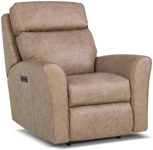 Smith Brothers 418 Casual Motorized Recliner with Power Headrest