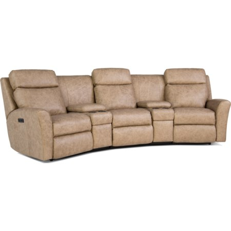 Motorized Reclining Conversation Sofa