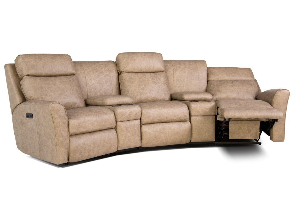 Smith Brothers 418Motorized Reclining Conversation Sofa