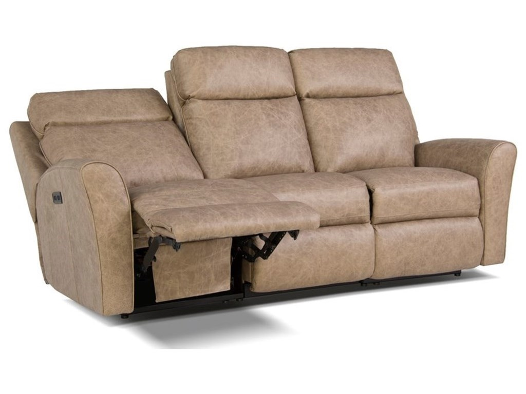 418 Motorized Reclining Sofa With Flared Arms By Smith Brothers