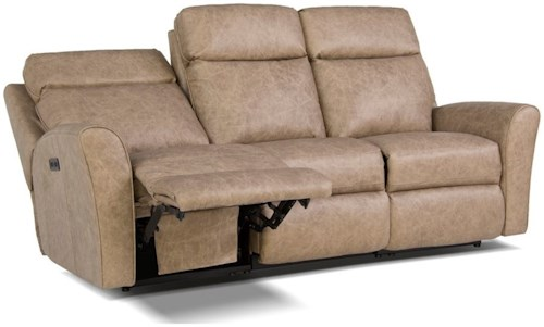 Smith Brothers 418 Motorized Reclining Sofa with Flared Arms