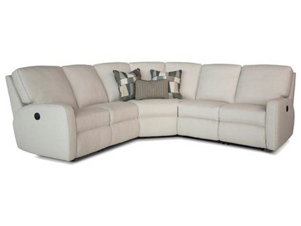 Smith Brothers 419Power Reclining Sectional Sofa