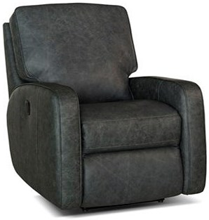 Smith Brothers 419 Contemporary Swivel Glider Reclining Chair with Track Arms
