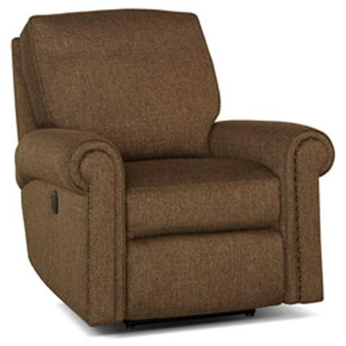 Smith Brothers 420 Traditional Swivel Glider Reclining Chair with Nailhead Trim