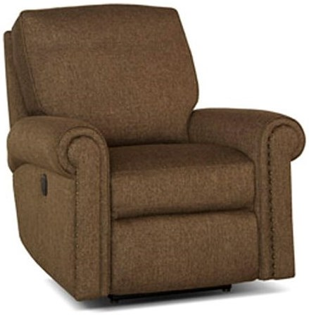 Smith Brothers 420 Traditional Motorized Reclining Chair with Nailhead Trim